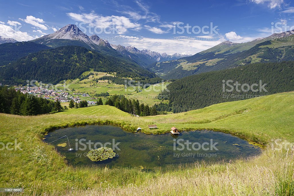 Heart Shaped Lake In Beautiful Mountain Landscape royalty-free stock photo