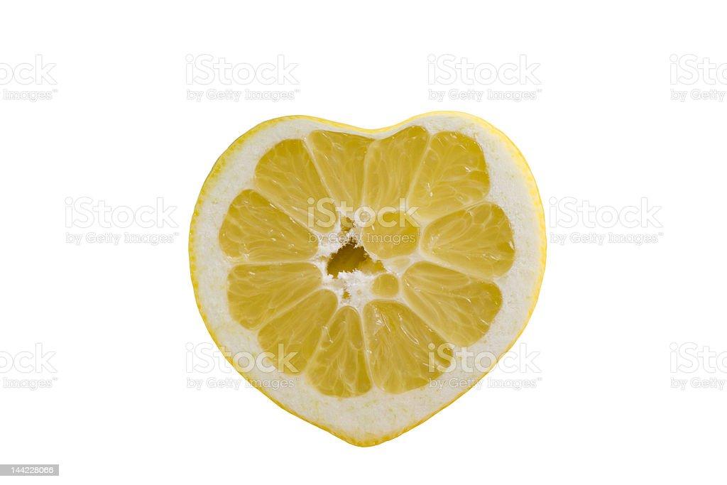 Heart shaped lemon royalty-free stock photo
