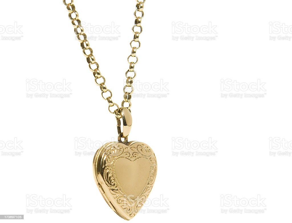 Heart Shaped Locket royalty-free stock photo