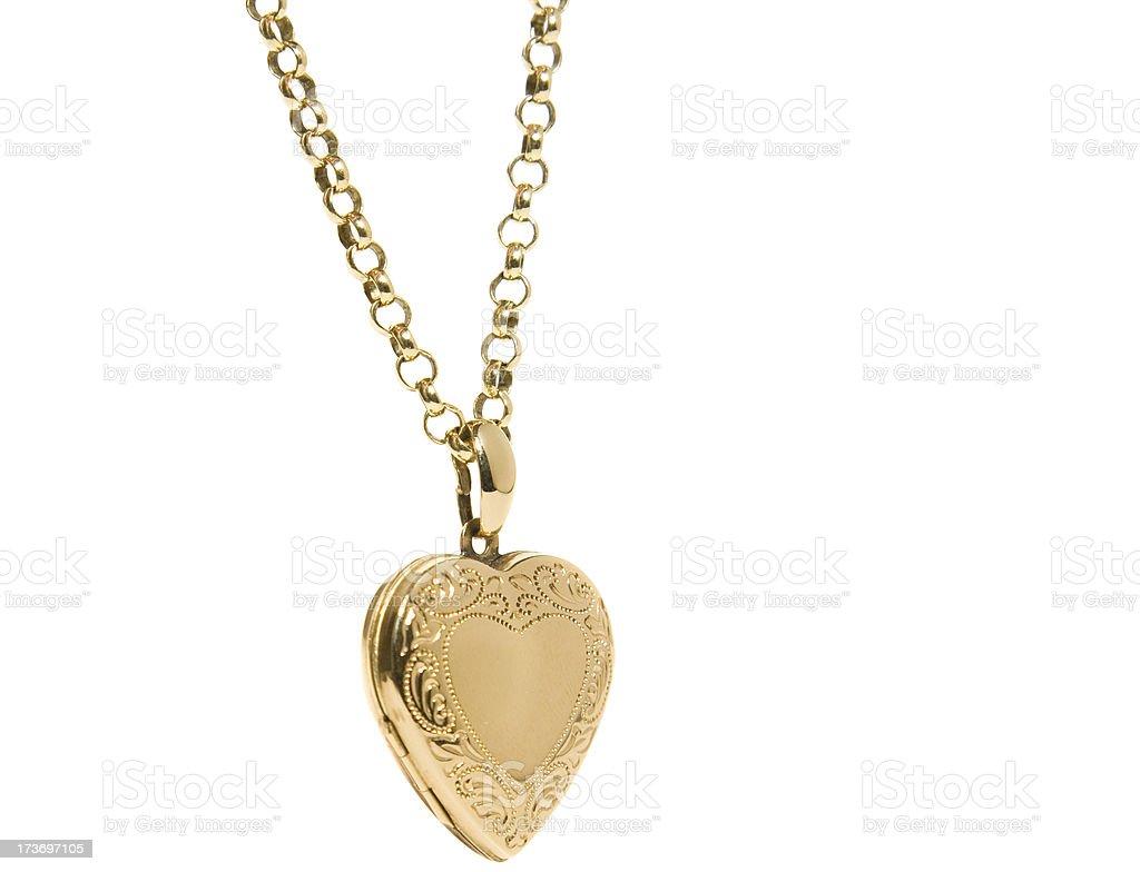Heart Shaped Locket stock photo