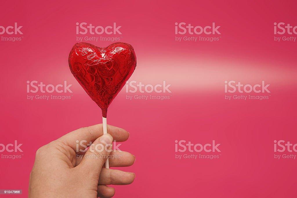 heart shaped lolly royalty-free stock photo