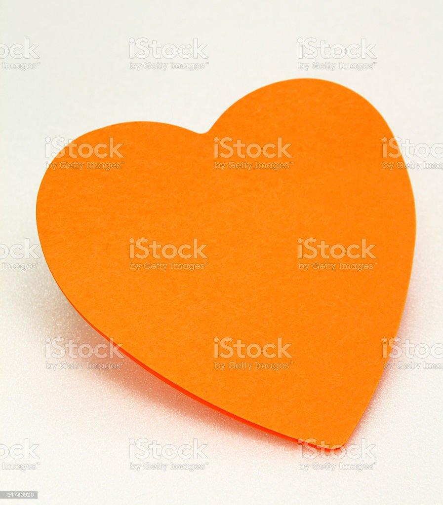 Heart shaped message pad royalty-free stock photo