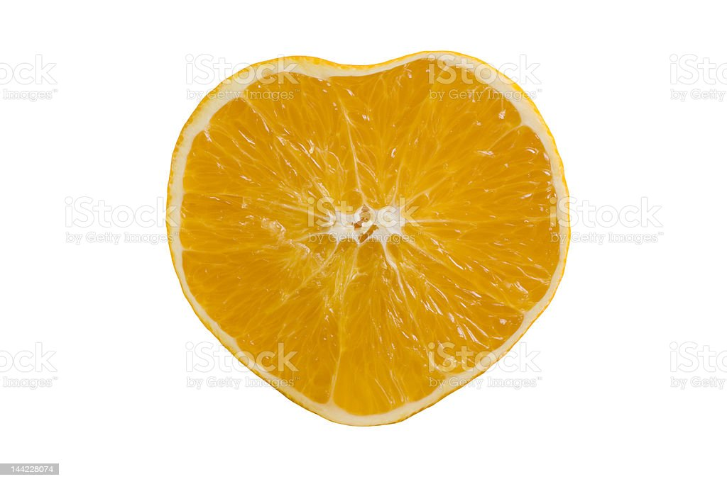 Heart shaped orange royalty-free stock photo