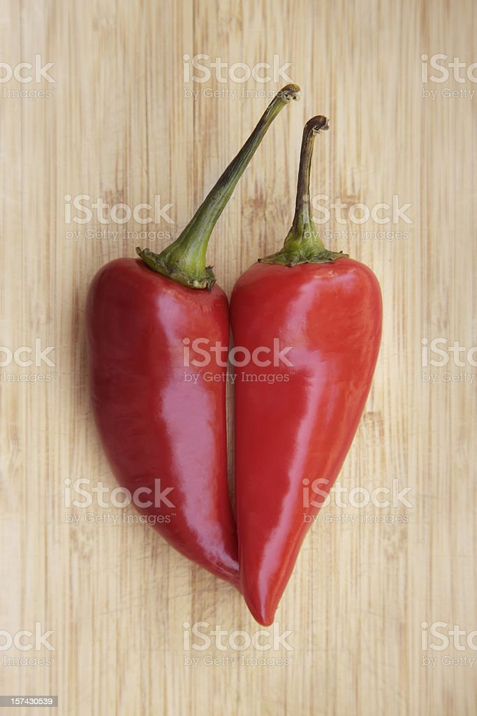 Heart Shaped Pepper stock photo