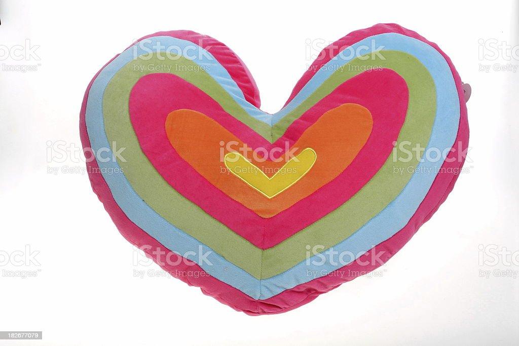 heart shaped pillow royalty-free stock photo