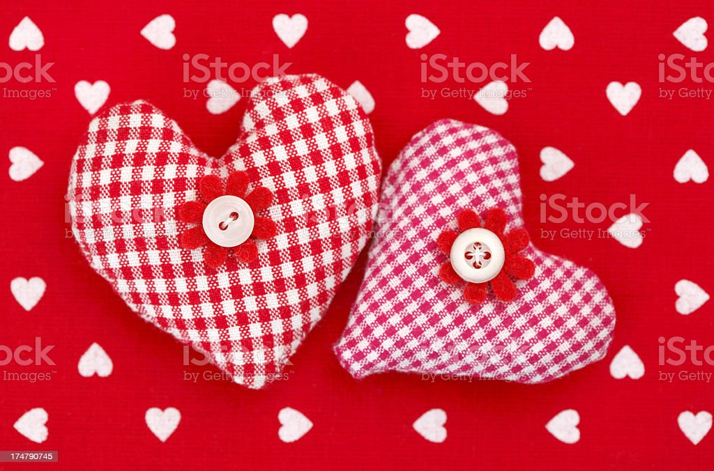 Heart shaped pillows royalty-free stock photo