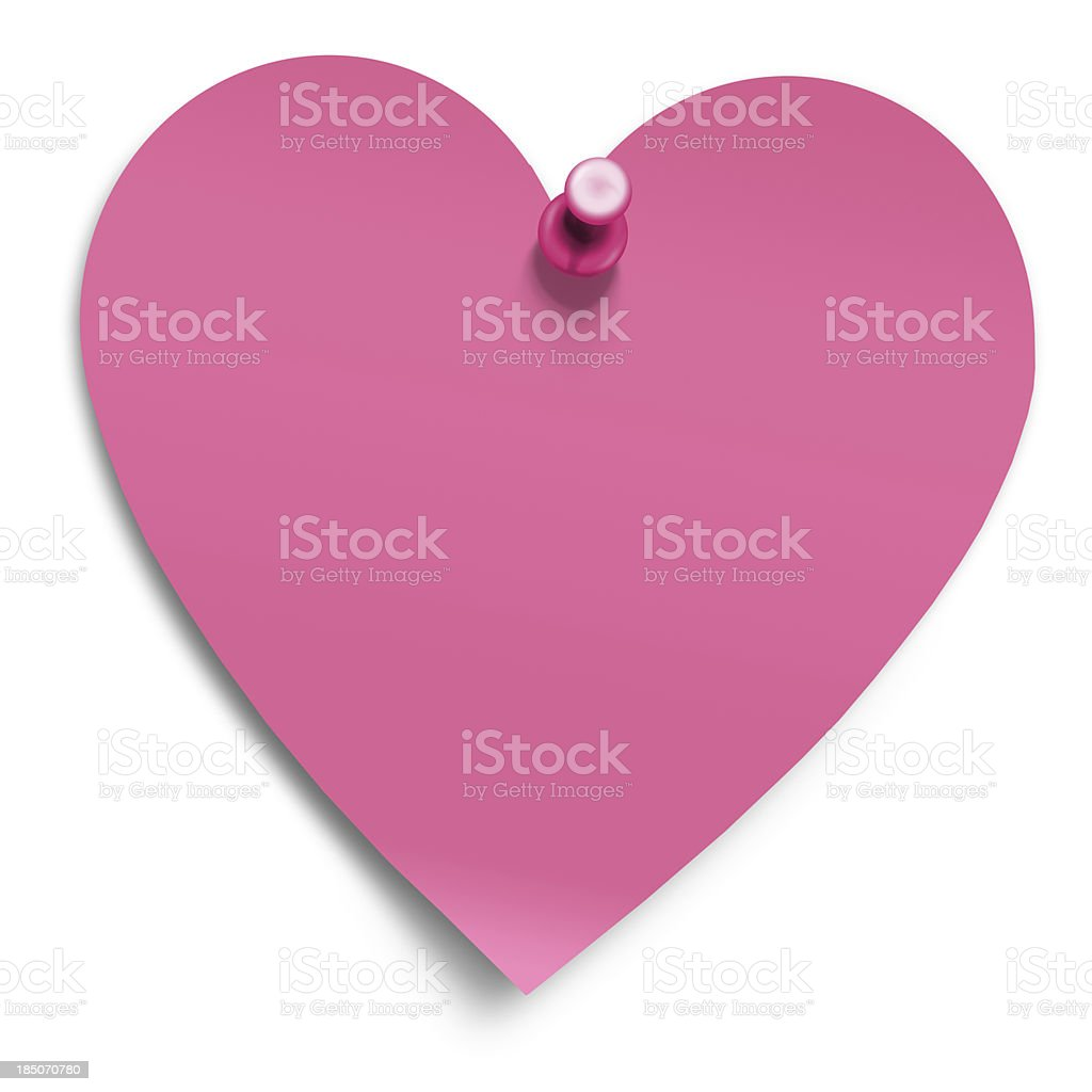 heart shaped postit royalty-free stock photo