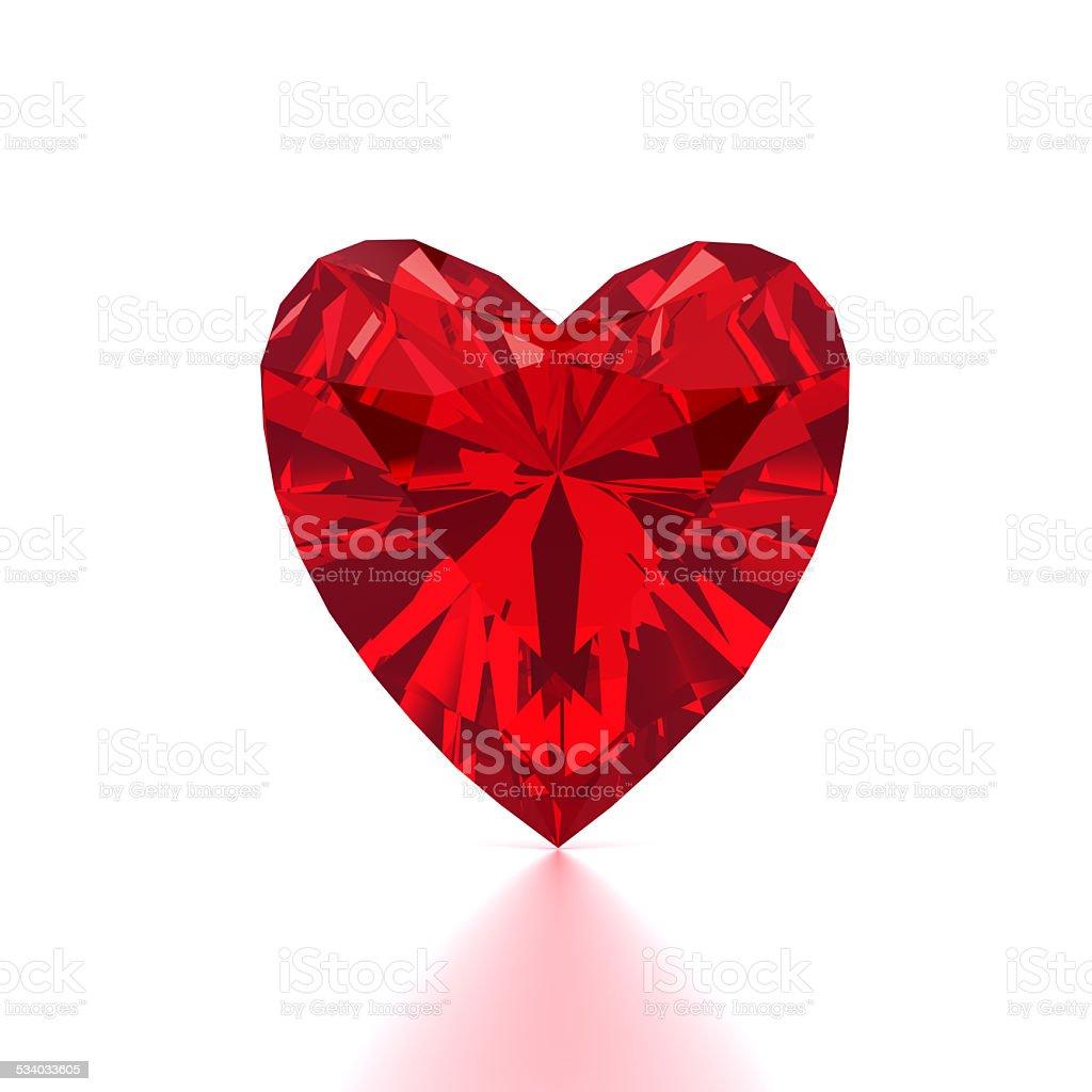 Heart Shaped Red Diamond stock photo