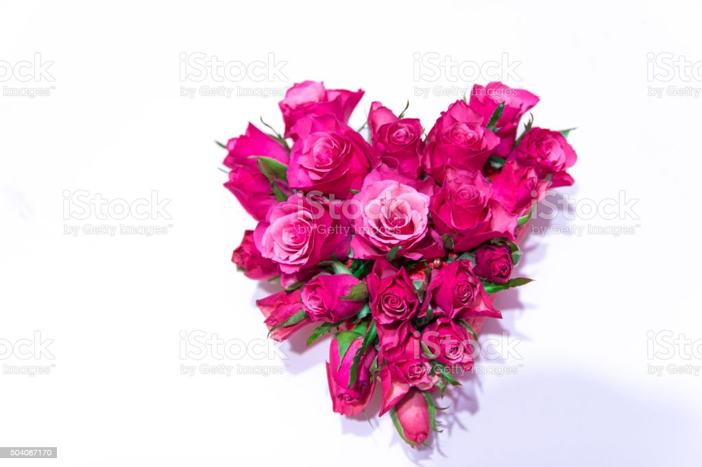 Heart Shaped Roses Bouquet stock photo