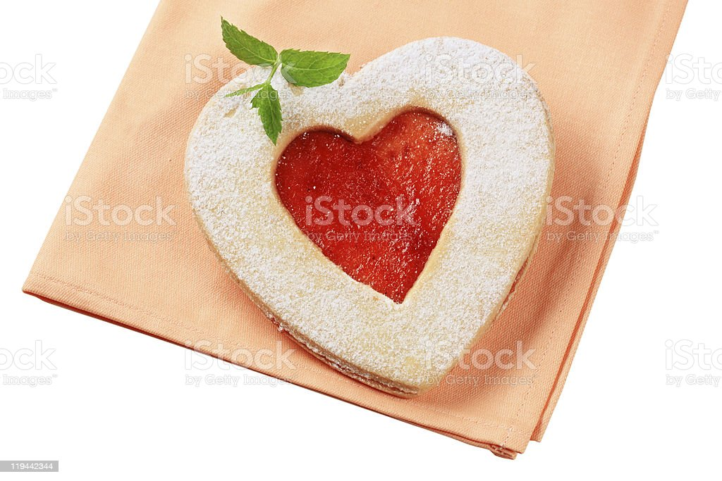 Heart shaped shortbread cookie royalty-free stock photo