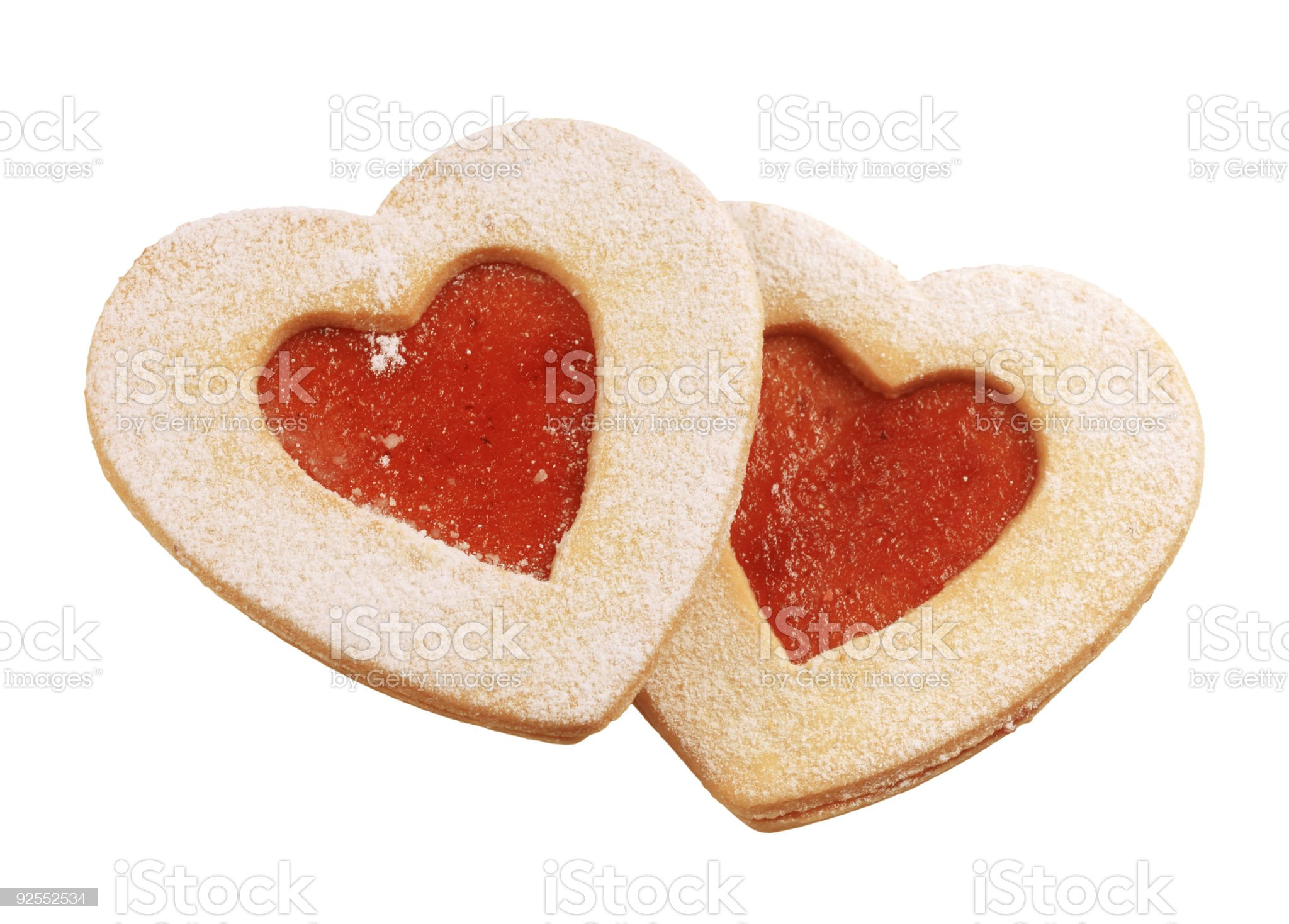 Heart shaped shortbread cookies royalty-free stock photo