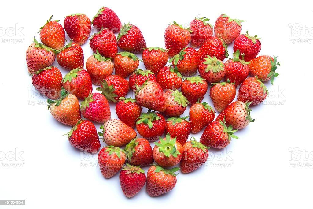 heart shaped strawberries royalty-free stock photo