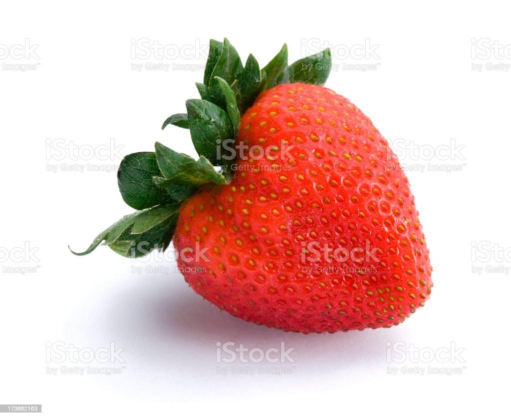 Heart shaped strawberry stock photo