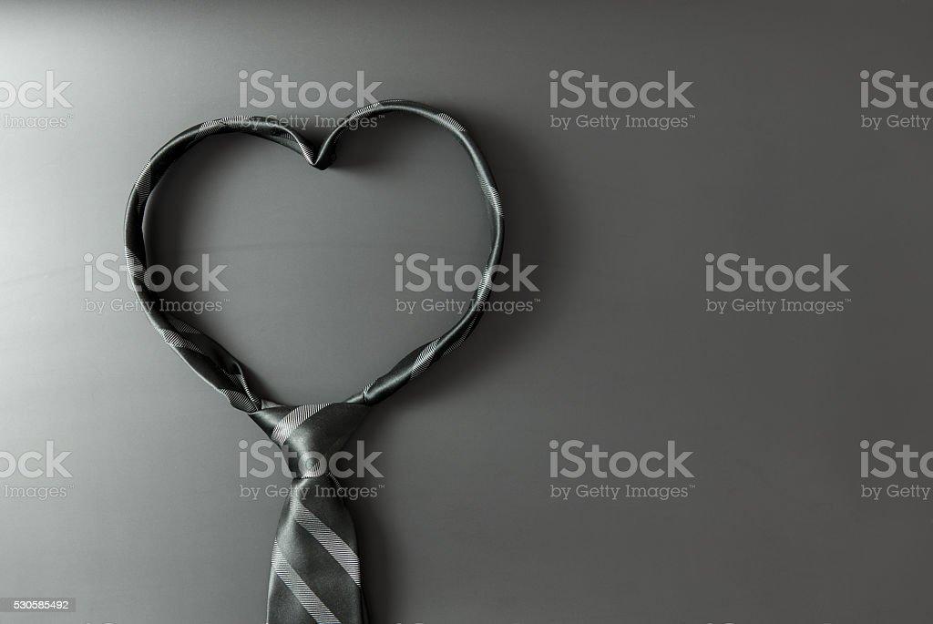 Heart shaped tie stock photo