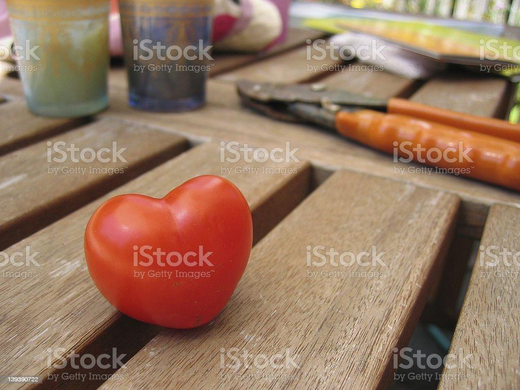 Heart Shaped Tomato royalty-free stock photo