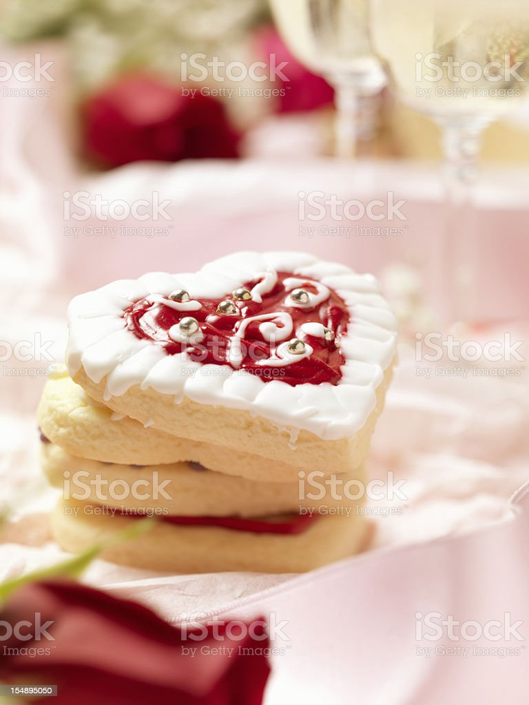 Heart Shaped Valentine Cookies royalty-free stock photo