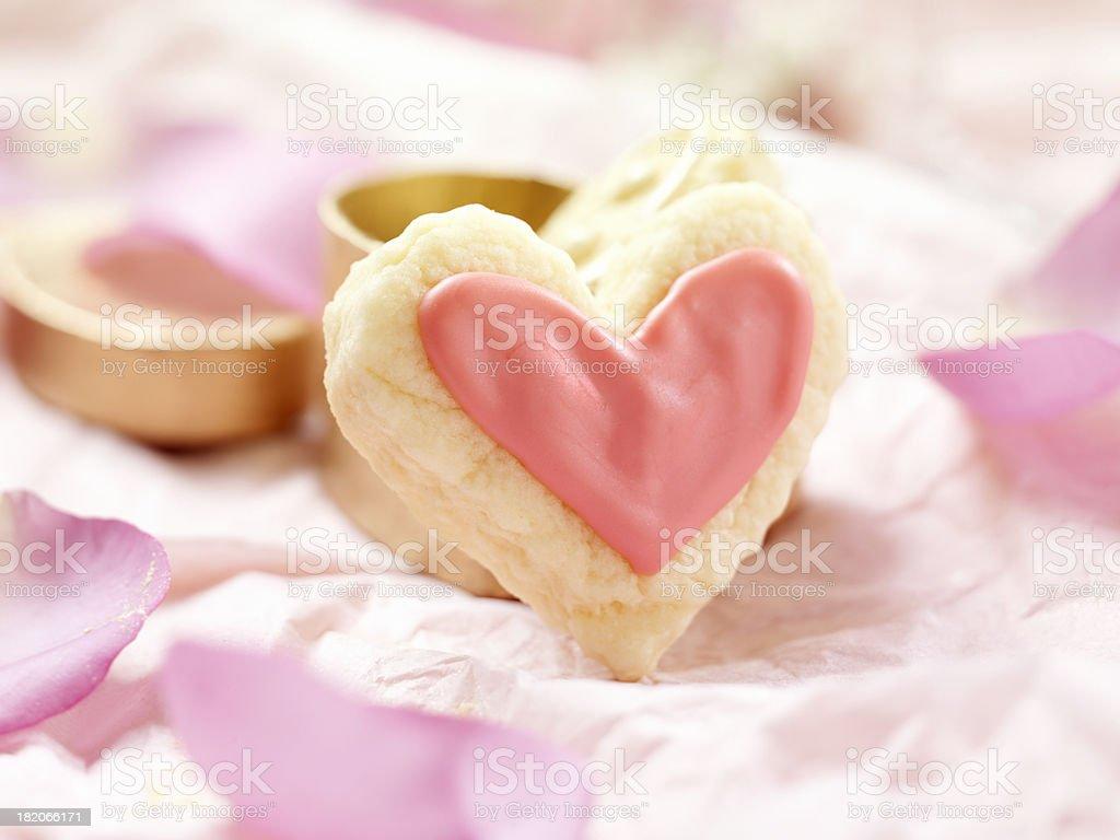 Heart Shaped Valentine Cookies stock photo