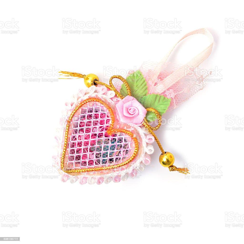 Heart shaped Valentines Day gift box stock photo