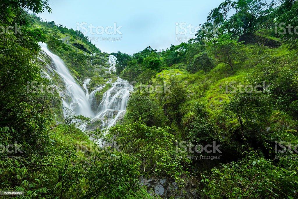Heart Shaped Waterfall stock photo
