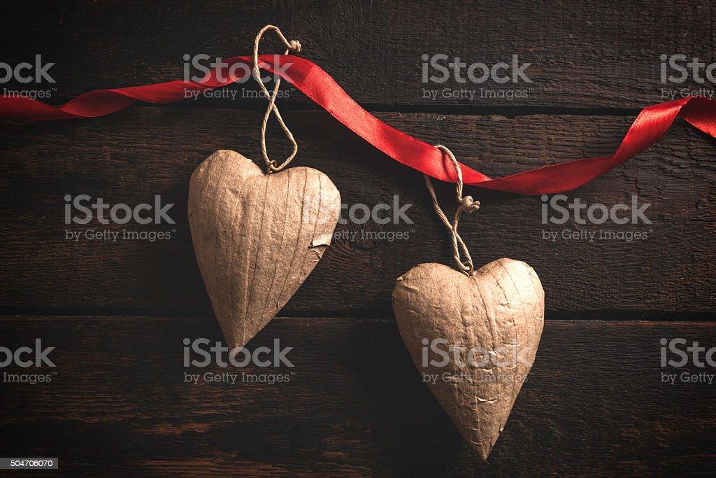 Heart shapes objects stock photo