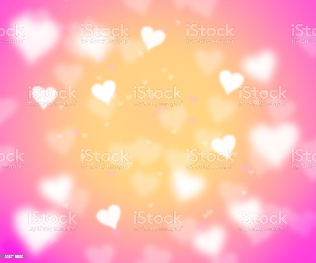 heart shapes on pink vector art illustration