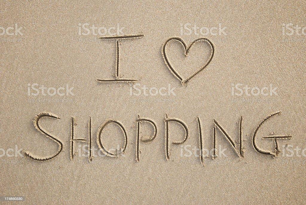 I Heart Shopping royalty-free stock photo