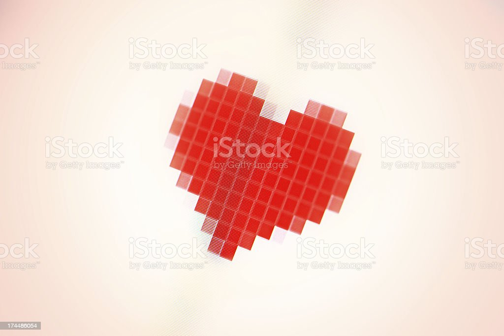 Heart sighn on a monitor. royalty-free stock photo
