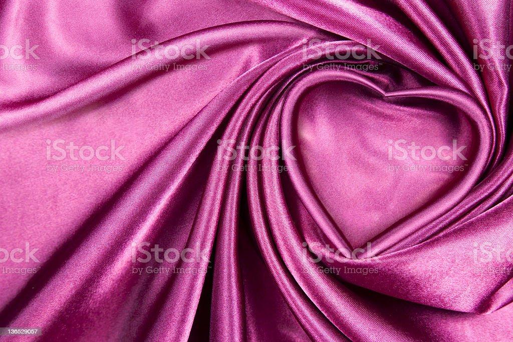 Heart silk royalty-free stock photo
