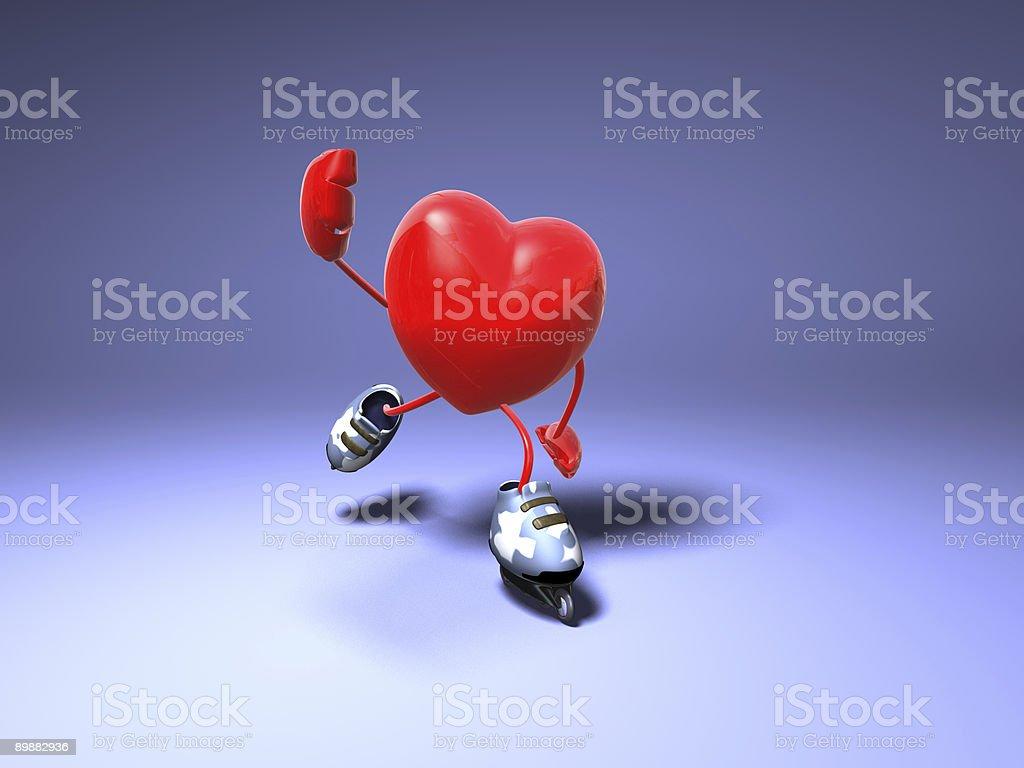 Heart skating royalty-free stock photo