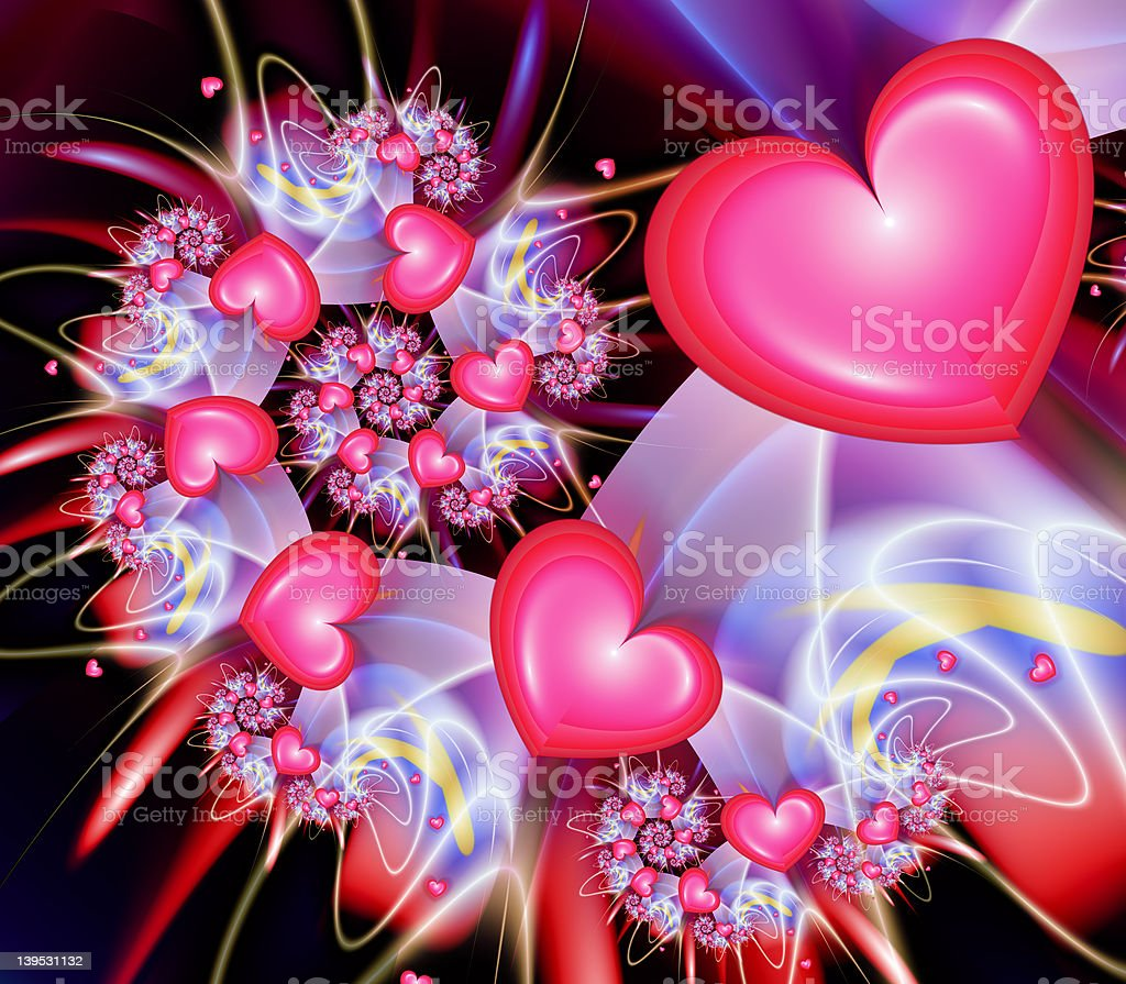 Heart Spiral royalty-free stock photo