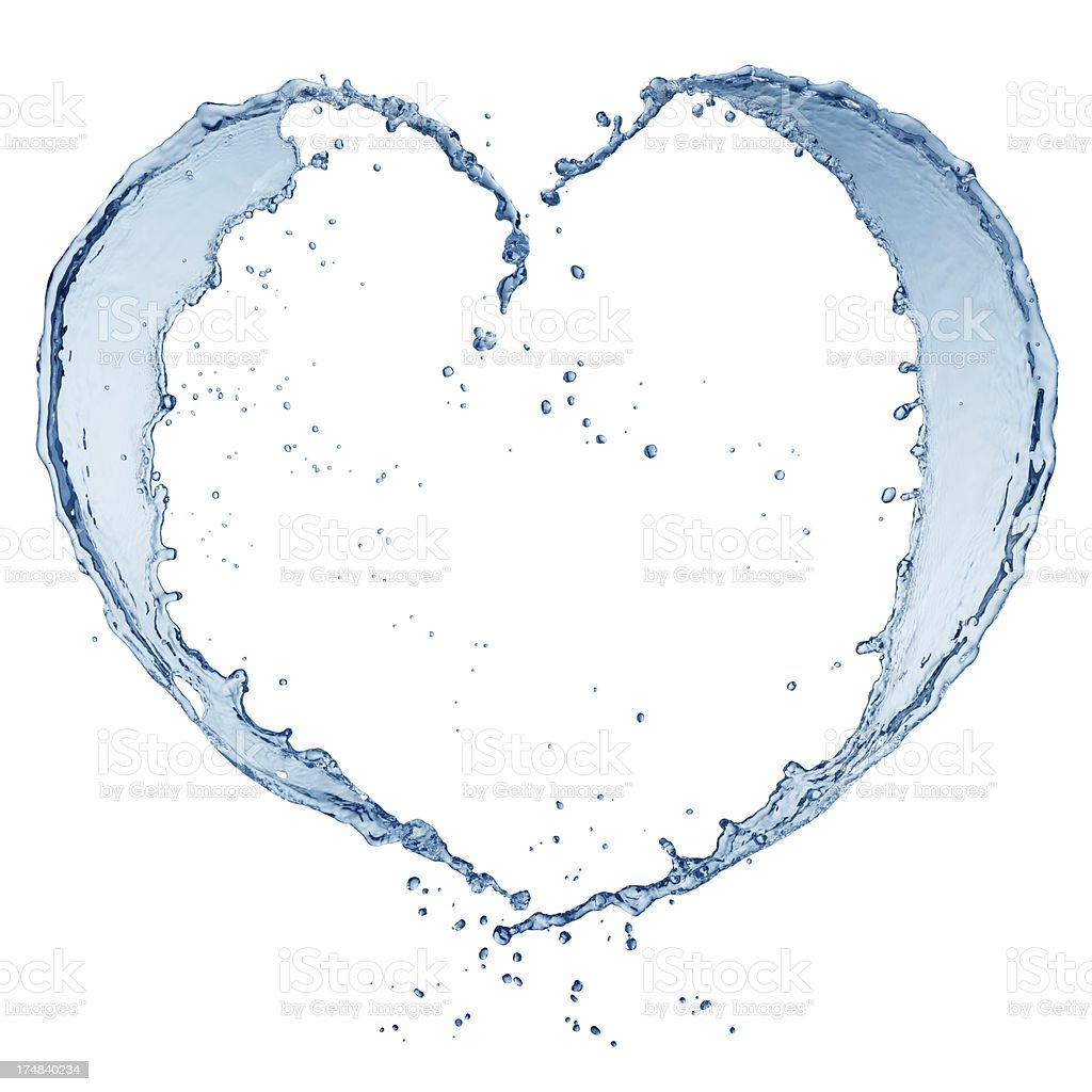 heart splash royalty-free stock photo