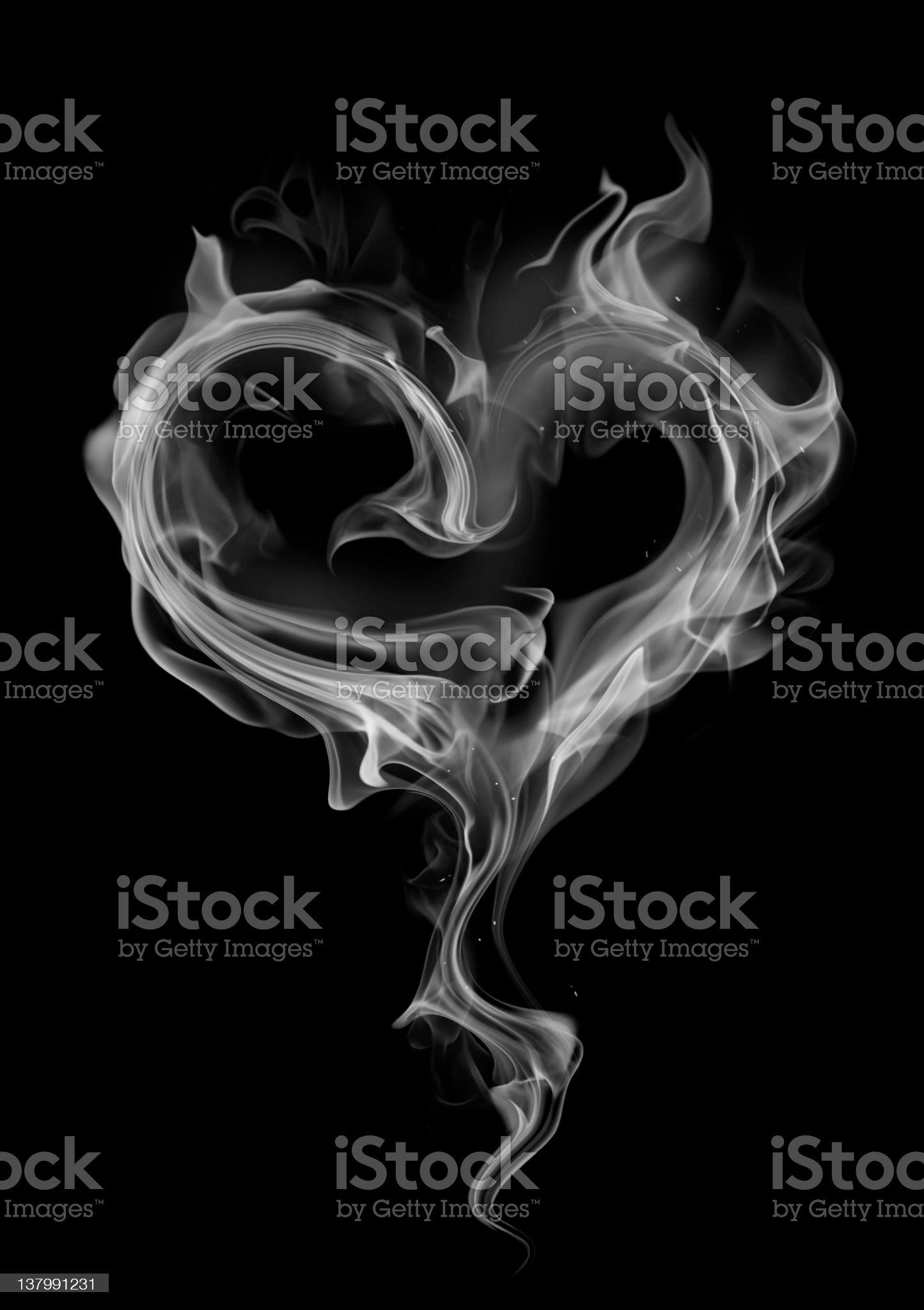Heart steam royalty-free stock photo