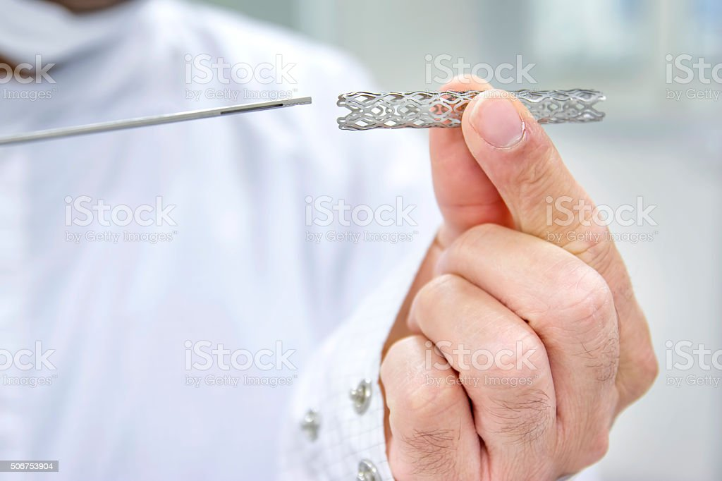 Heart Stent stock photo