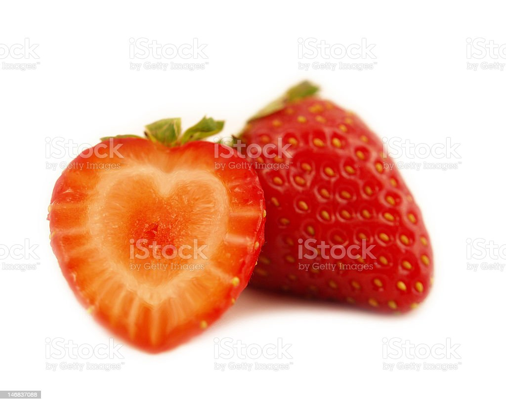 heart strawberry royalty-free stock photo
