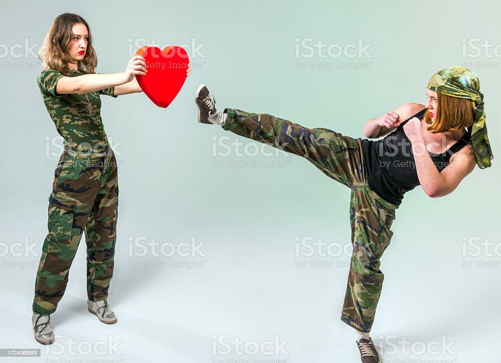 Heart strike stock photo