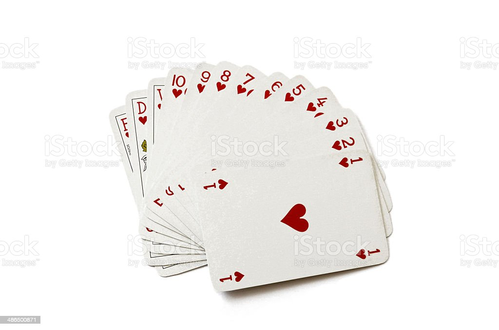 Heart Suit of Playing Cards (High Quality) stock photo