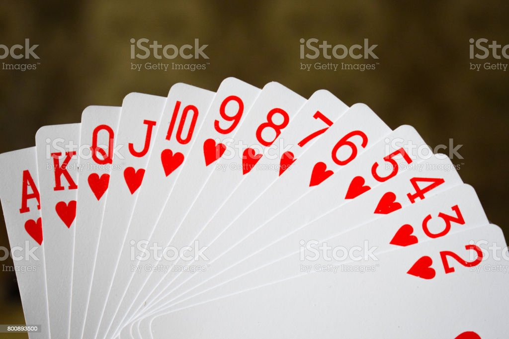 Heart Suit of Playing Cards stock photo