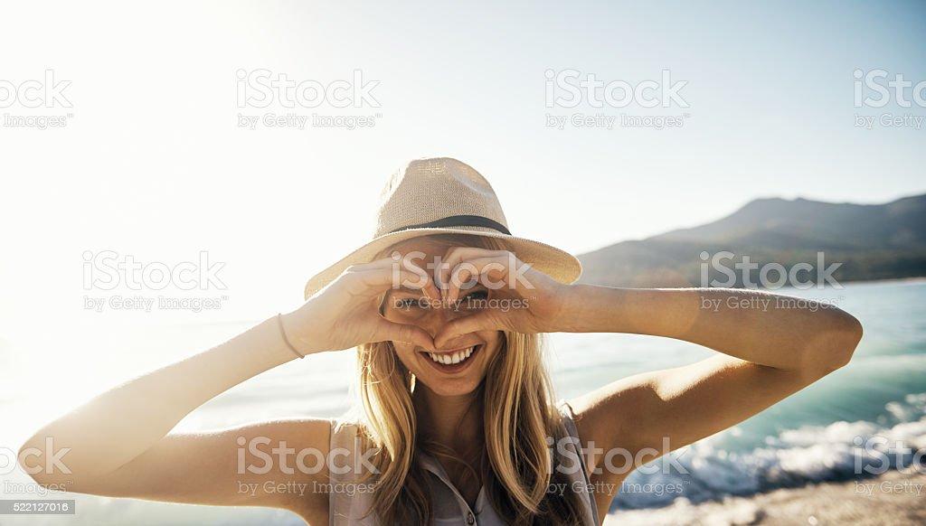 I heart summer! stock photo