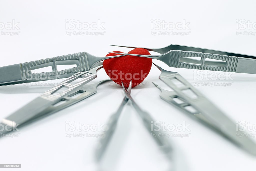 heart surgery stock photo