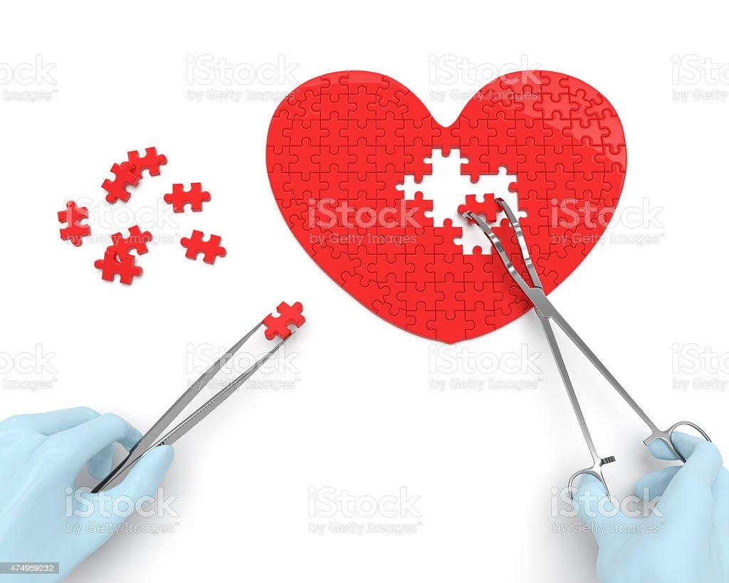 Heart surgery (concept) stock photo