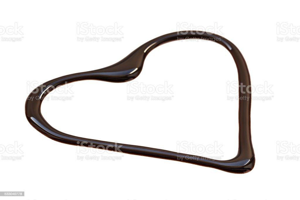 heart symbol from chocolate stock photo