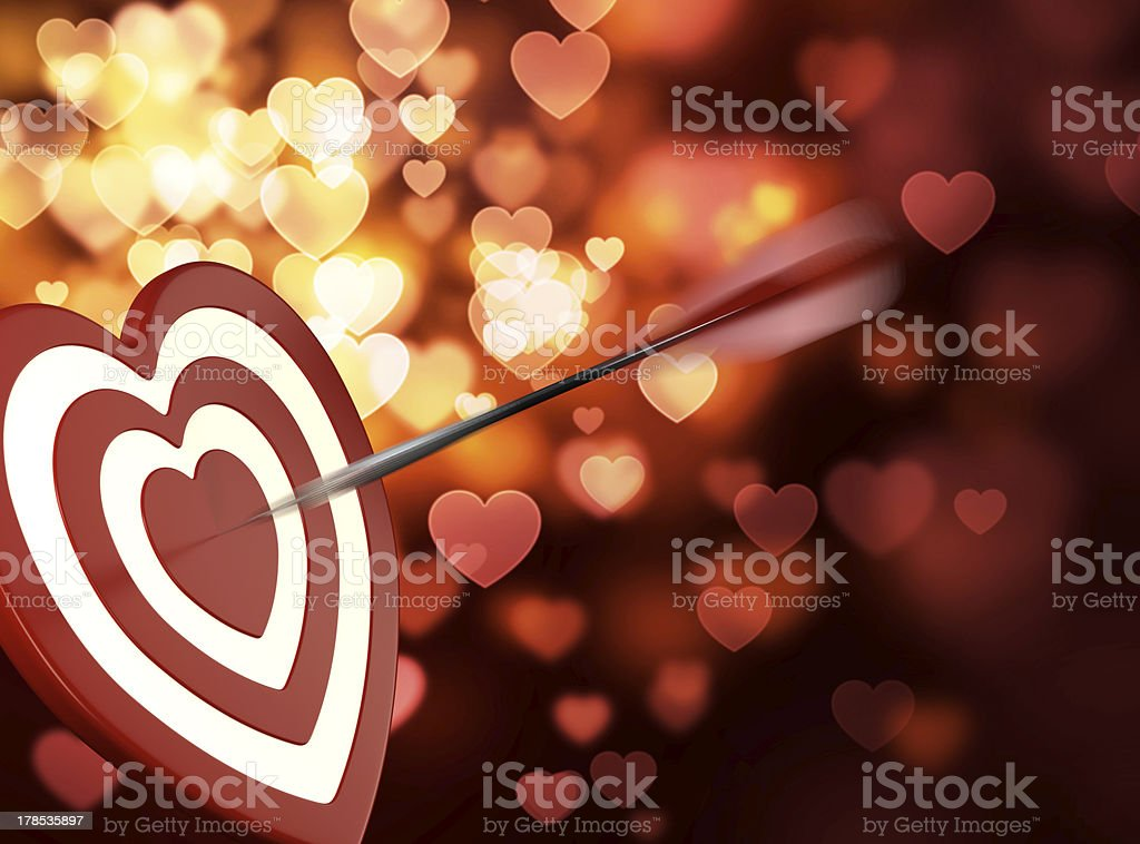 Heart target royalty-free stock photo