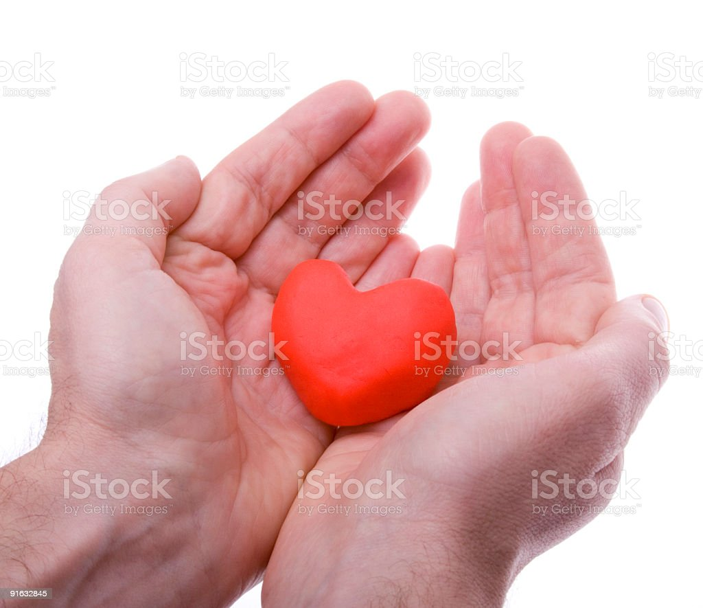 Heart tilt stock photo