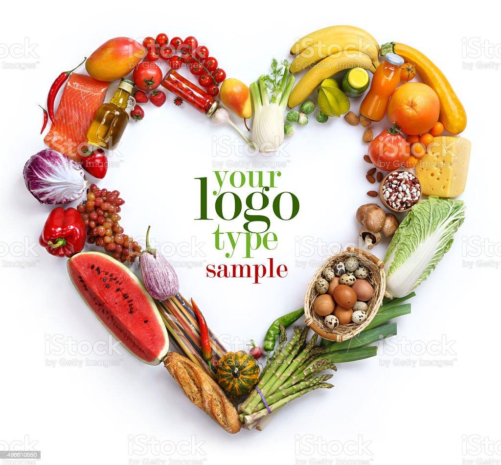 Heart vegetables symbol stock photo