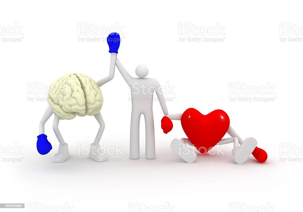 Heart vs Mind. royalty-free stock photo