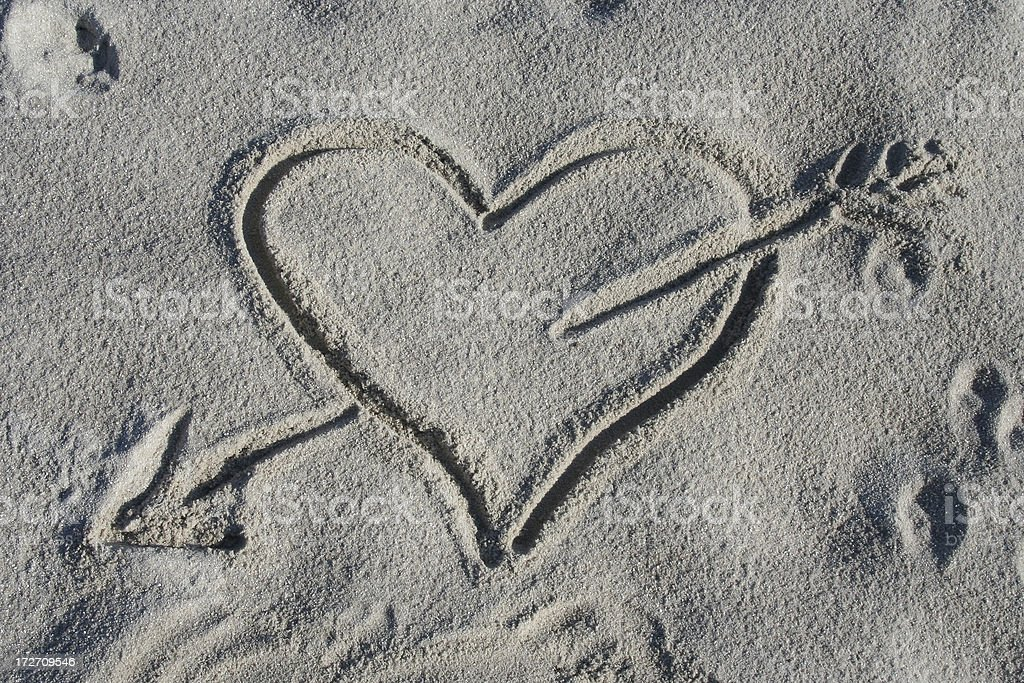Heart With Arrow royalty-free stock photo