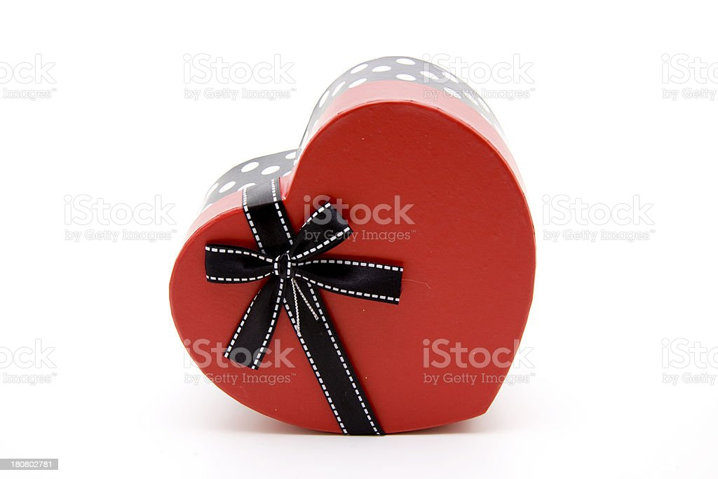 Heart with black loop stock photo