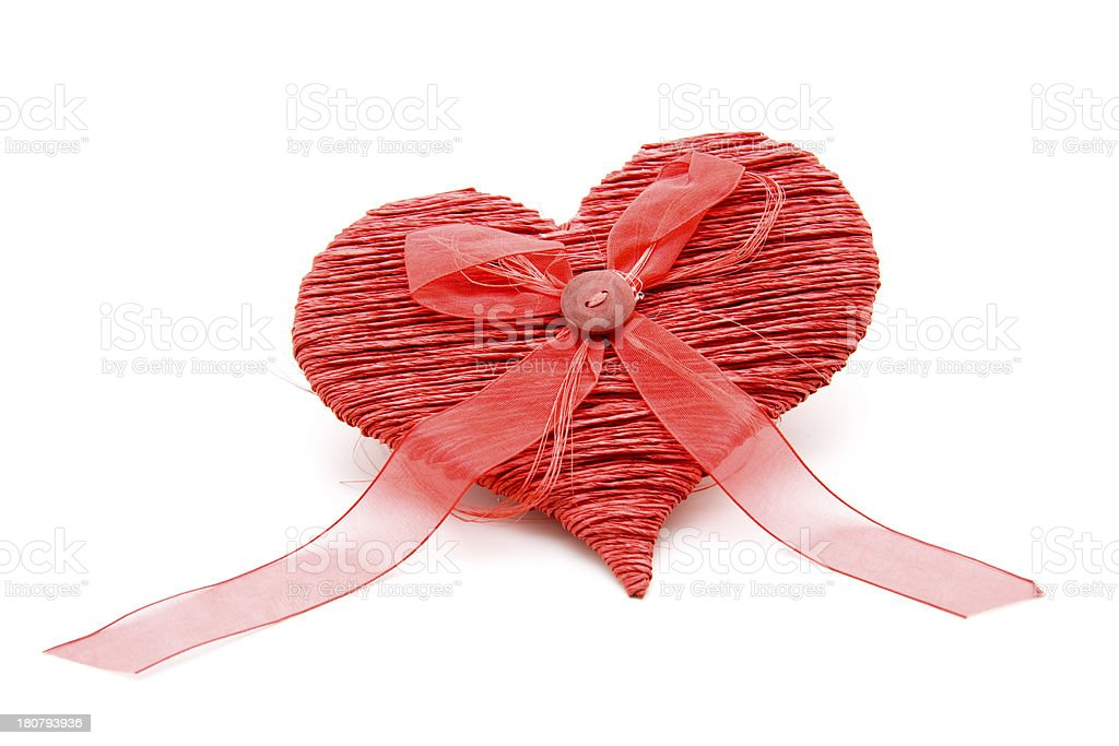 Heart with button in loop stock photo