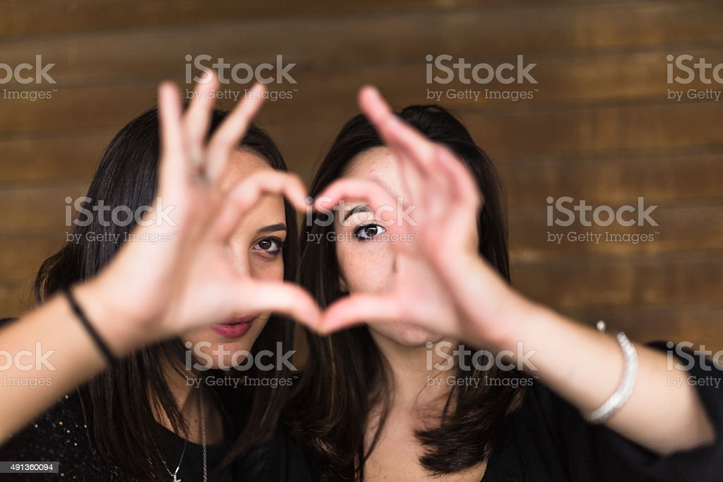 Heart with hands stock photo