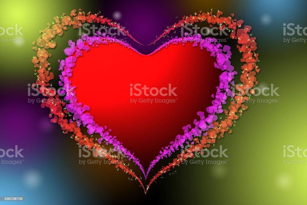 Cœur avec coeur image photo libre de droits